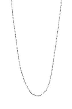Sterling Silver  - FACETED BALL CHAIN