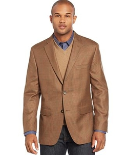 Greg Norman - Herringbone Windowpane Sport Coat