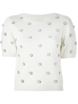 Alice+olivia - Pearl Embellished Sweater