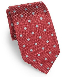 Saks Fifth Avenue - Polka Dot Silk Tie
