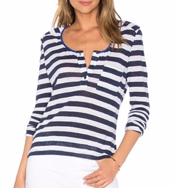 Frame Denim - Le Nautical Henley Top