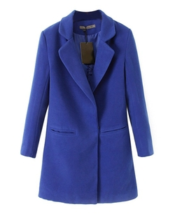 Chicnova - Pure Color Slim Fit Coat