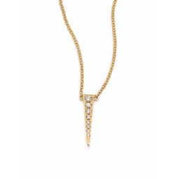 EF Collection  - Diamond Mini Dagger Pendant Necklace
