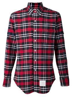 Thom Browne  - Plaid Print Shirt