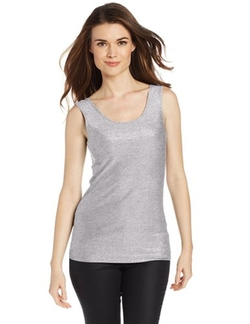 Only Hearts - Metallic Jersey Low Back Shell Tank Top