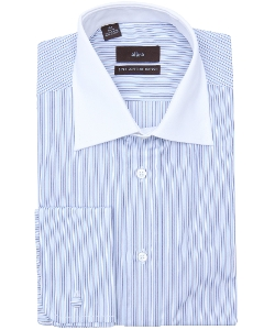 Alara - Striped Cotton Spread Collar Dress Shirt