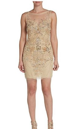 Basix Black Label  - Embellished Illusion Mini Dress