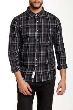 Native Youth  - Grunge Check Long Sleeve Trim Fit Shirt