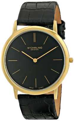 Stuhrling Original - Black Leather Strap Watch