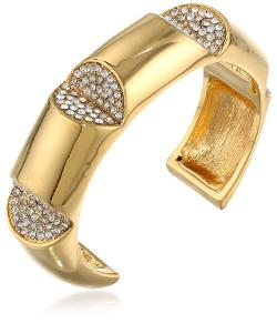 Kara by Kara Ross  - Gold-Plated and Crystal Cut-Out Cuff Bracelet