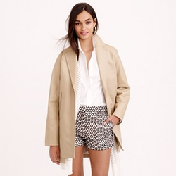 J.Crew - Bonded Cotton Trench Coat