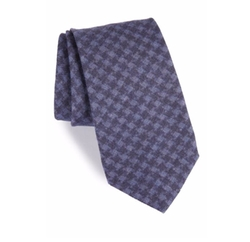 Michael Bastian  - Houndstooth Wool Tie