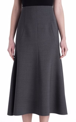 Stella McCartney  - Double-Face Wool Midi Skirt
