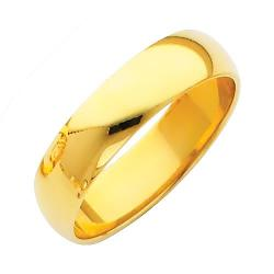 TWJC Wedding Collection  - Yellow Gold Plain Wedding Band
