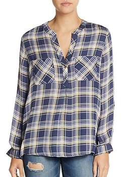 Joie  - Nelia Silk Plaid Shirt