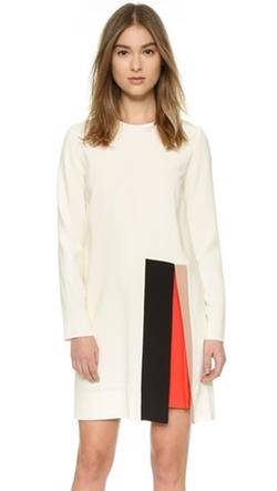 MSGM - Crepe Long Sleeve Dress
