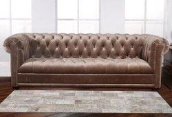 Pasargad  - Brooke Tufted Velvet Sofa