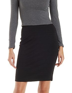 Charlotte Russe - Ribbed Pencil Skirt