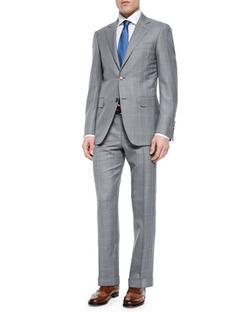 Canali  - Windowpane Two-Piece Wool Suit