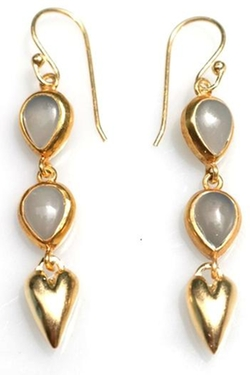 Wendy Mink Jewelry - Gold Heart Earring