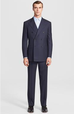 CANALI - Classic Fit Double Breasted Windowpane Suit