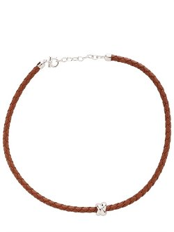 Salvatore Ferragamo Jewels - Nodo Silver & Leather Necklace