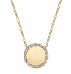 Eliot Danori - Gold-Tone Round Halo Pendant Necklace