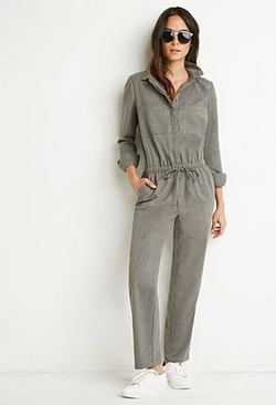 Forever 21 - Brushed Twill Utility Jumpsuit