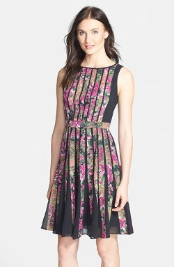 Adrianna Papell - Floral Print Fit & Flare Dress