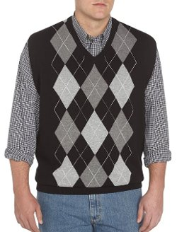 Harbor Bay  - Argyle V-Neck Vest