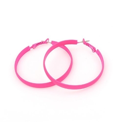 Idin - Hot Pink Iridescent Hoop Earrings