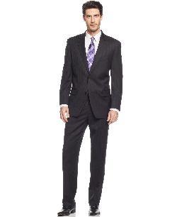Michael Kors  - Suit Black Tonal Stripe