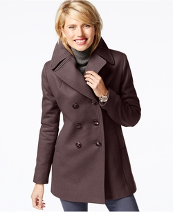 Kenneth Cole  - Double-Breasted Peacoat