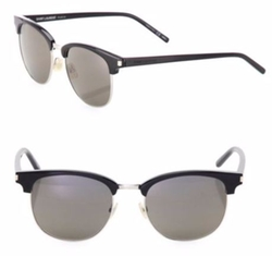Saint Laurent  - Semi Rimless Square Sunglasses