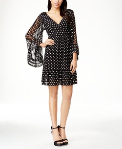 Betsey Johnson - Polka-Dot Bell Sleeve Dress
