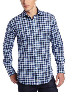 Thomas Dean - Gingham Check Button Down Shirt