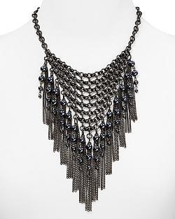 Aqua Rox - Cage Fringe Necklace