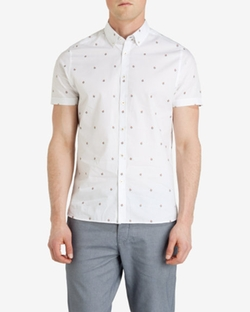 Ted Baker London - Floral Fil Coupé Shirt