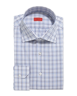 Isaia - Woven Multi-Plaid Dress Shirt
