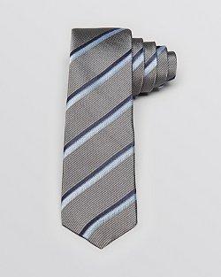 John Varvatos - Herringbone Stripe Woven Skinny Tie