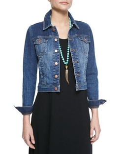 Eileen  - Fisher Denim Cropped Jacket