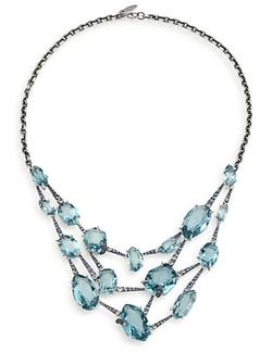 Alexis Bittar Fine - Sky Marquis Sapphire Necklace