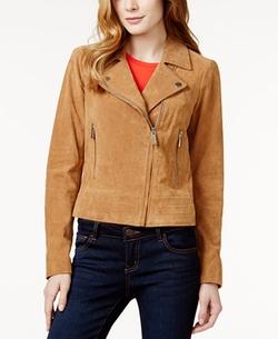 Michael Kors - Asymmetrical Suede Moto Jacket