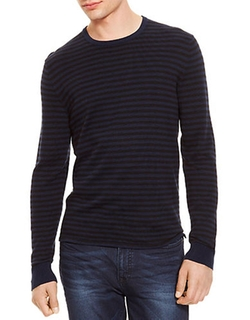 Kenneth Cole New York - Striped Crew Neck Pullover