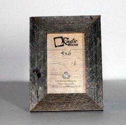 Rustic Decor - Barnwood Reclaimed Wood Standard Photo Frame
