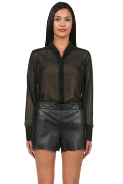 Alice + Olivia - Hi Low Button Down Top