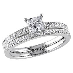 Tevolio  - Princess Cut Diamond Wedding Ring