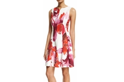 Carolina Herrera - Sleeveless Floral-Print Fit-&-Flare Dress