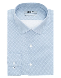 DKNY  - Slim Fit Dotted Check Dress Shirt
