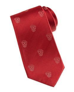 Alexander McQueen  - Skull-Print Silk Tie
